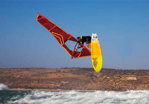 Jaeger Stone windsurfing in Geraldton